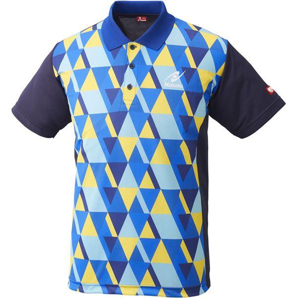 スポーツ用品・スポーツウェア関連商品 ニッタク(Nittaku)卓球アパレル SCALE SHIRT(スケールシャツ)NW2179 ブルー S
