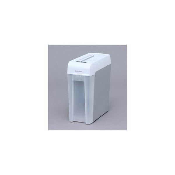 マイクロカットシュレッダー (A4サイズ/CD・DVD・カードカット対応) ホワイト/グレー KP6HMCS アイリスオーヤマ マイクロカットシュレッダー (A4サイズ/CD・DVD・カードカット対応) ホワイト/グレー KP6HMCS