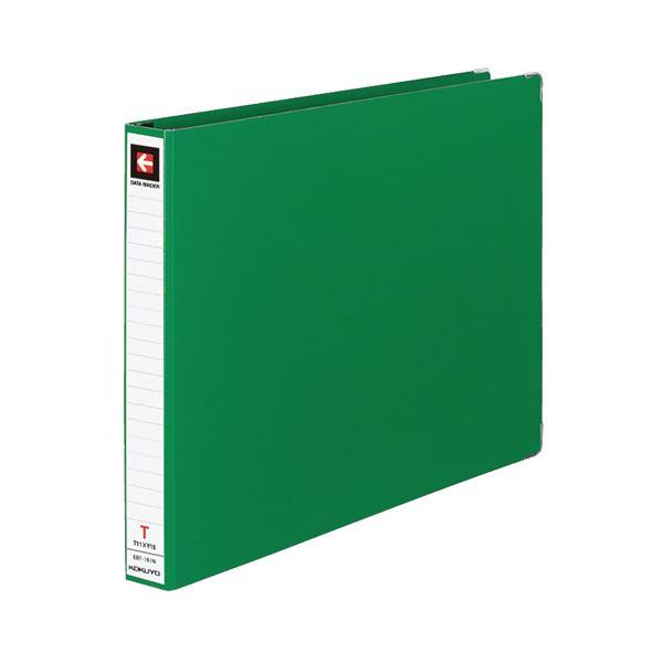 生活用品・インテリア・雑貨 (まとめ) コクヨ データバインダーT(バースト用・レギュラータイプ) T11×Y15 22穴 280枚収容 緑 EBT-151NG 1冊 【×10セット】
