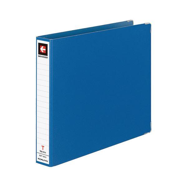 (まとめ) コクヨ データバインダーT(バースト用・レギュラータイプ) T9×Y11 18穴 280枚収容 青 EBT-1811 1冊 【×10セット】