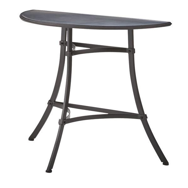 スチール製コンソールテーブル/サイドテーブル 【幅85cm】 ELS-216 〔ディスプレイ家具 什器〕