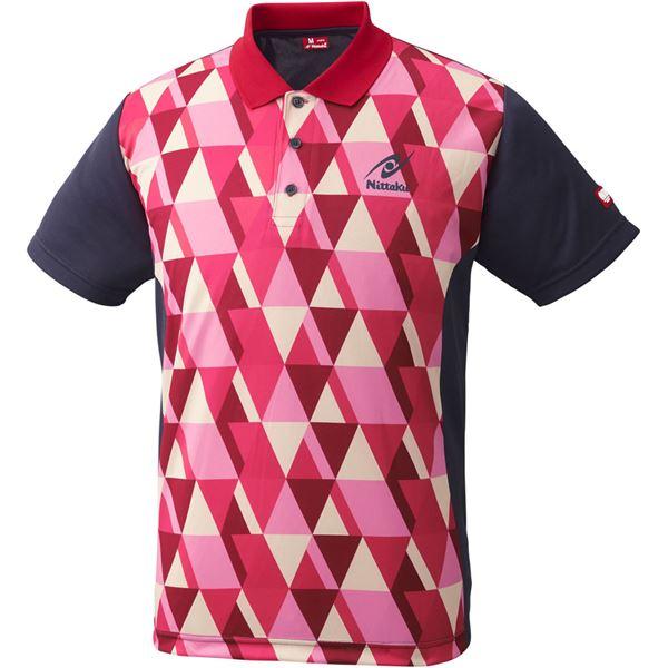 スポーツ用品・スポーツウェア関連商品 卓球アパレル SCALE SHIRT(スケールシャツ)NW2179 レッド S