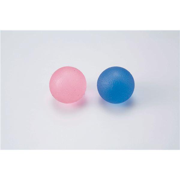 介護用品 関連 (まとめ)淡野製作所 リハビリ用品 クリアトレーニングボール(1組) D7222【×5セット】