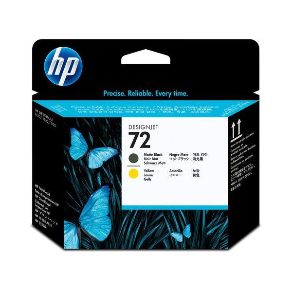 パソコン・周辺機器 PCサプライ・消耗品 インクカートリッジ 関連 (まとめ) HP72 プリントヘッド マットブラック/イエロー C9384A 1個 【×3セット】