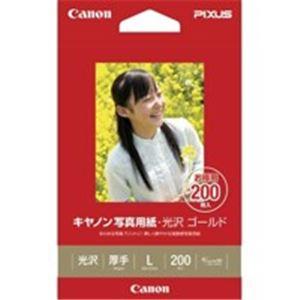 パソコン・周辺機器 (業務用30セット) キャノン Canon 写真紙 光沢ゴールド GL-101L200 L 200枚 【×30セット】