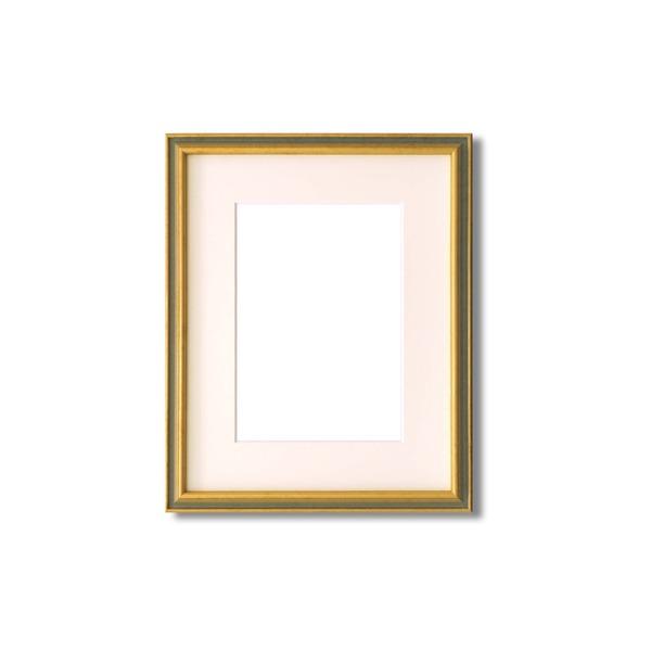 絵画 関連商品 【額縁・絵画額】マット・壁掛けひも・アクリル付 ■9714水彩額F4号 マット付 (ライトグリーン)