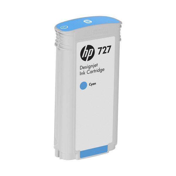 パソコン・周辺機器 PCサプライ・消耗品 インクカートリッジ 関連 (まとめ) HP727 インクカートリッジ 染料シアン 130ml B3P19A 1個 【×3セット】