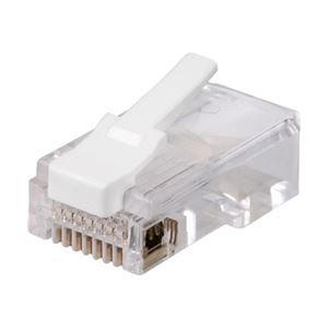 AV・デジモノ バッファロー(サプライ) ツメの折れない RJ45 LANコネクター カテゴリー5e対応 100個入り ETPCRJ45ET100
