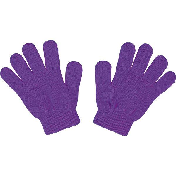 便利 日用雑貨 (まとめ買い)カラーのびのび手袋 紫 【×50セット】