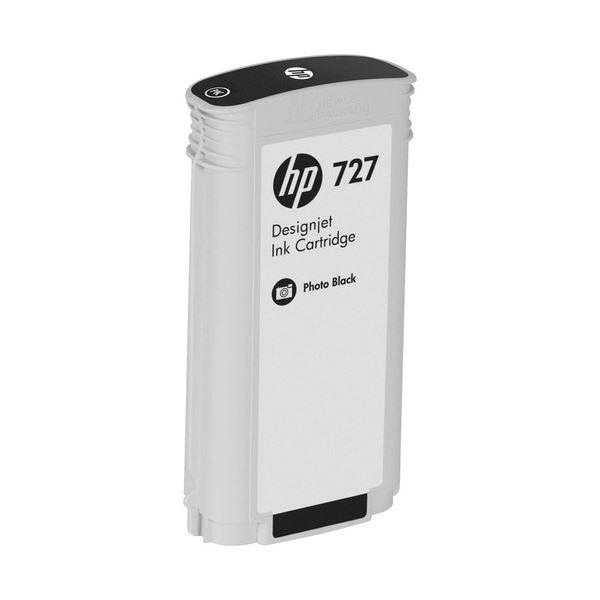 パソコン・周辺機器 PCサプライ・消耗品 インクカートリッジ 関連 (まとめ) HP727 インクカートリッジ 染料フォトブラック 130ml B3P23A 1個 【×3セット】