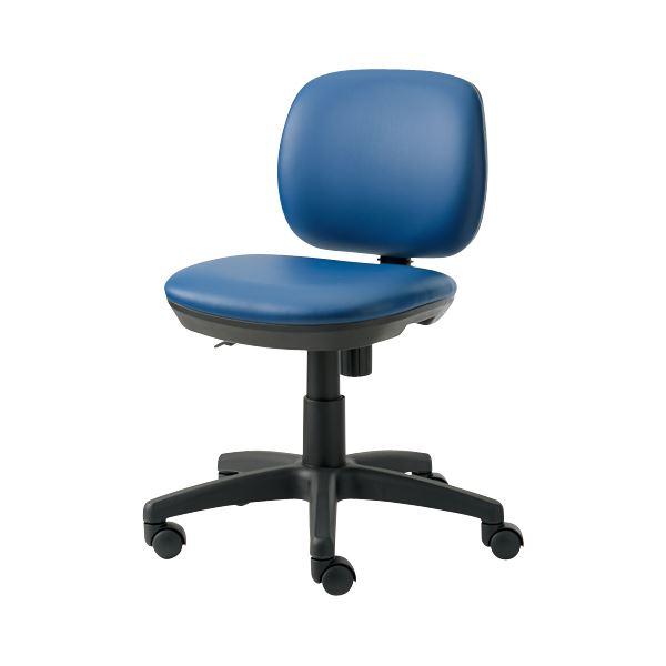 オフィス家具 オフィスチェア 高機能チェア 関連 事務イス KC-JF62NL ブルー レザー張り