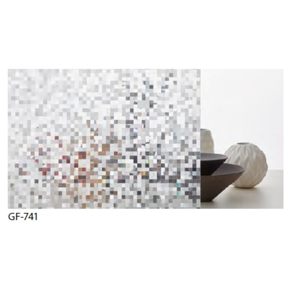 幾何柄 飛散低減ガラスフィルム GF-741 92cm巾 4m巻