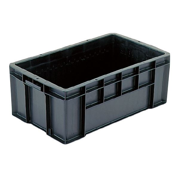 生活 雑貨 通販 三甲(サンコー) 導電性コンテナボックス/テンバコ 【43.2L】 段積み可 ED-43 ブラック(黒)【代引不可】