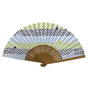レディースファッション 和服 和装小物 関連 komon+ 和紙扇子70型25間【3本セット】うろこ富士