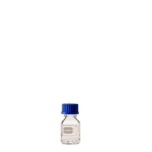 科学・研究・実験 関連商品 ねじ口びん セーフティコート 青キャップ付 25mL【10個】