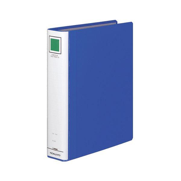 文具・オフィス用品 (まとめ) コクヨ チューブファイル(エコツインR) B5タテ 400枚収容 背幅55mm 青 フ-RT641B 1冊 【×10セット】