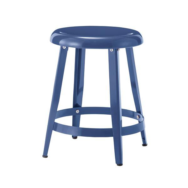 スチール製スツール/丸椅子 【ブルー】 直径36cm×高さ45cm PC-65BL 〔インテリア家具 ディスプレイ用品 什器〕
