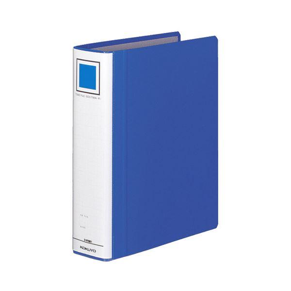 (まとめ) コクヨ チューブファイル(エコツインR) B5タテ 500枚収容 背幅65mm 青 フ-RT651B 1冊 【×10セット】