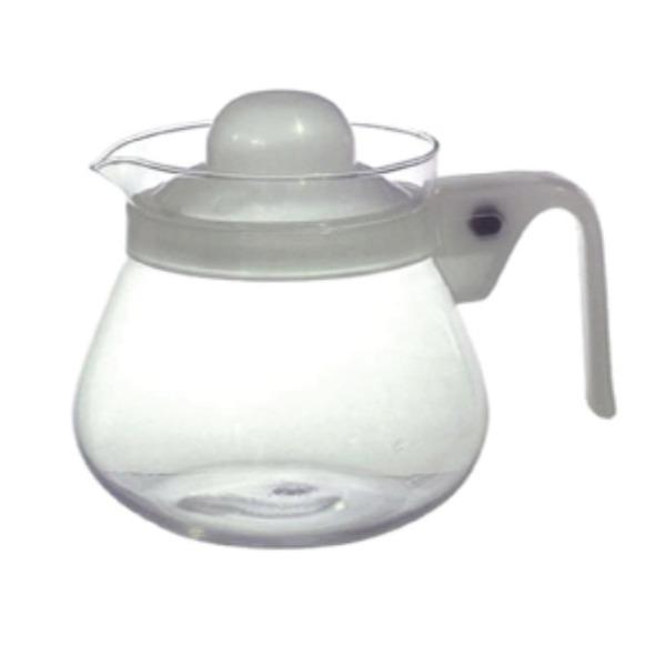 キッチン用品・食器・調理器具 関連 ホワイト ティーポット 850ml (300108)【48個セット】 R-021