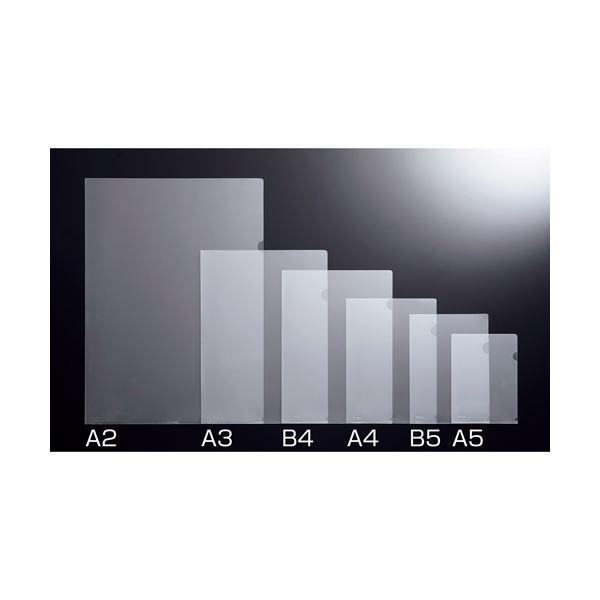 文具・オフィス用品 (まとめ) TANOSEE 再生クリアホルダー B5 クリア 1セット(100枚:10枚×10パック) 【×4セット】