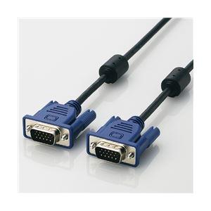パソコン・周辺機器 関連 エレコム スリム同軸ディスプレイケーブル15.0m/D-Sub15pin(ミニ)オス-D-Sub15pin(ミニ)オス CAC-L15BK
