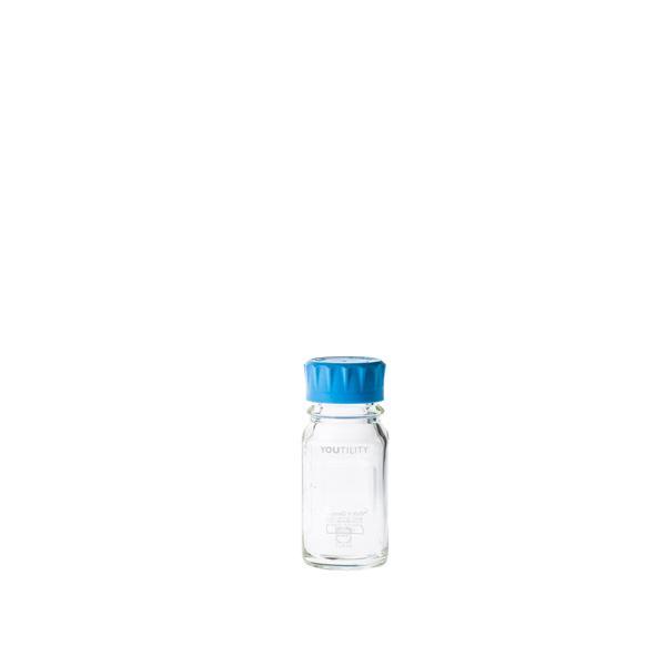 キッズ 教材 自由研究・実験器具 関連 ユーティリティーねじ口びん 水キャップ付 125mL【4個】