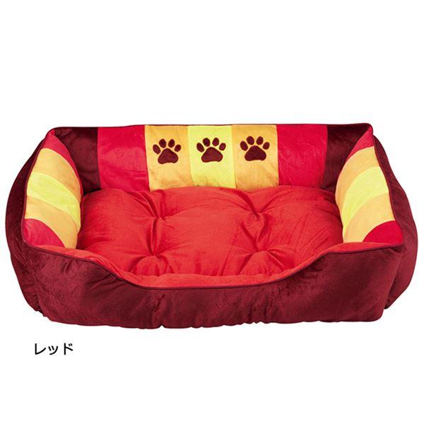 ペット関連商品 ふかふかペットベッド2(ペット用ベッド・寝床・洗える)(犬用・猫用・犬猫用・ドッグ・キャット) 【LL】 レッド