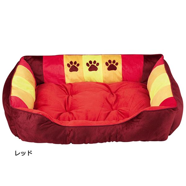 ペット関連商品 ふかふかペットベッド2(ペット用ベッド・寝床・洗える)(犬用・猫用・犬猫用・ドッグ・キャット) 【3L】 レッド