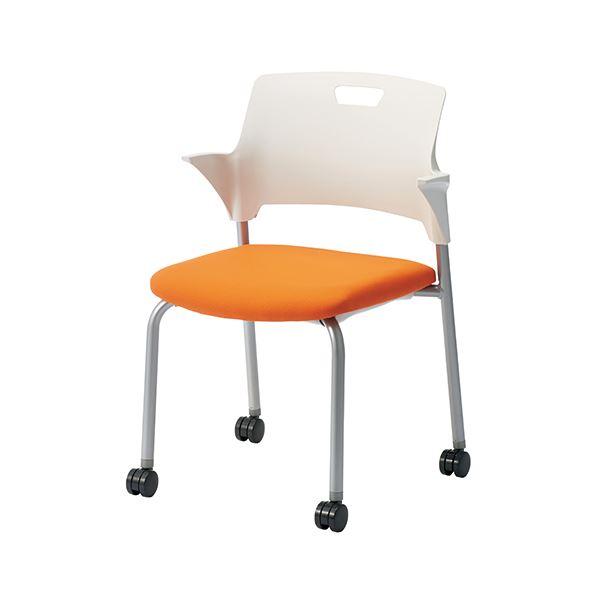 オフィス家具 オフィスチェア 会議用チェア 関連 会議イス CM550-MYC オレンジ