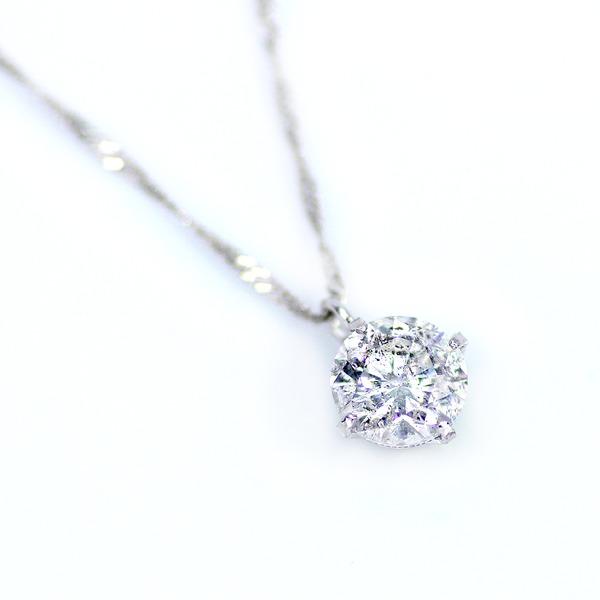 ダイヤモンド 関連商品 純プラチナ 0.7ct 4つ爪ダイヤモンドペンダント/ネックレス (鑑別書付き)