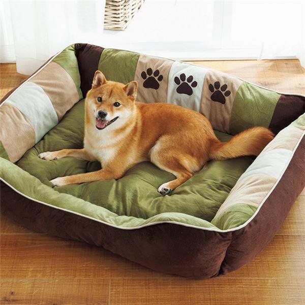 ペット・ペットグッズ 関連 ホビー関連商品 ふかふかペットベッド2(ペット用ベッド・寝床・洗える)(犬用・猫用・犬猫用・ドッグ・キャット) 【3L】 グリーン