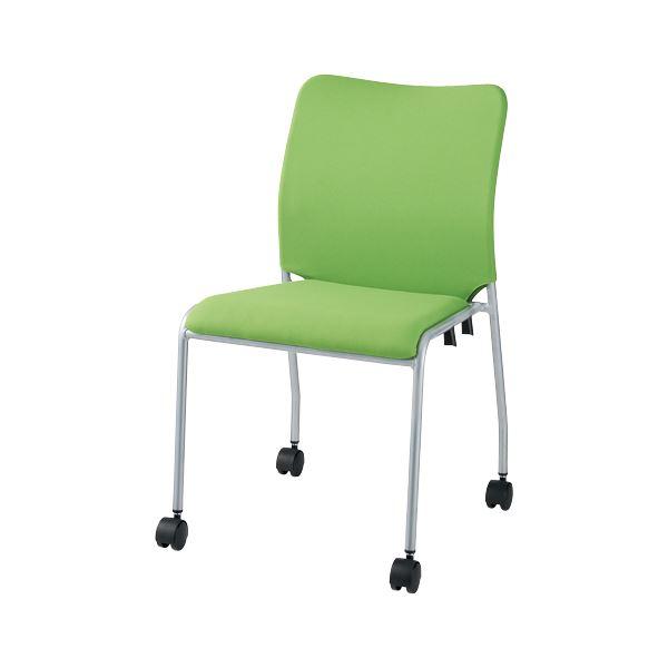 オフィス家具 オフィスチェア 会議用チェア 関連 会議イス GK-30R グリーン 肘無キャスタ付