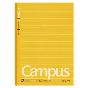 (まとめ) コクヨ キャンパスノート(ドット入り罫線・カラー表紙) セミB5 A罫 30枚 黄 ノ-3CAT-Y 1冊 【×40セット】