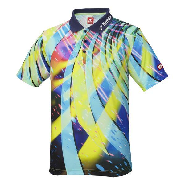 卓球用品 関連商品 卓球アパレル SPINADO SHIRT(スピネードシャツ) ゲームシャツ(男女兼用) NW2176 ネイビー XO