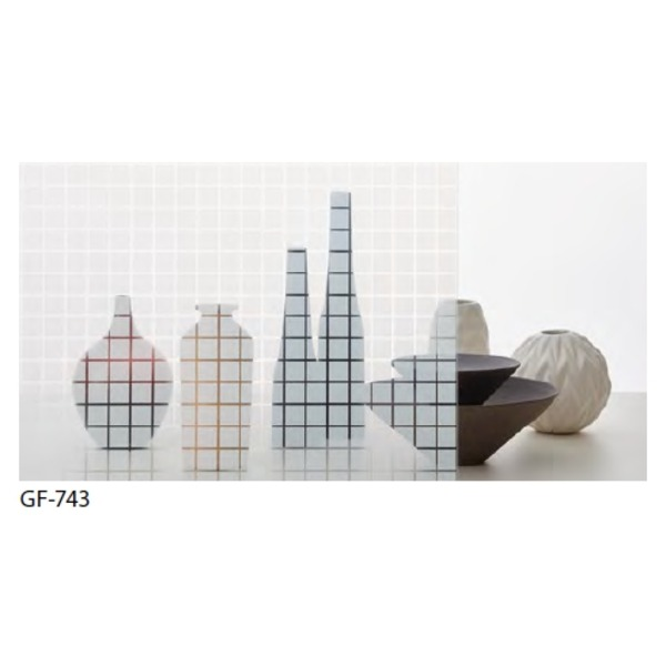 おしゃれな家具 関連商品 幾何柄 飛散防止ガラスフィルム GF-743 91cm巾 8m巻