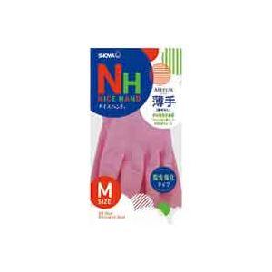 キッチン・食器 (業務用300セット) ショーワ ナイスハンドミュー薄手 Mサイズ ピンク 【×300セット】