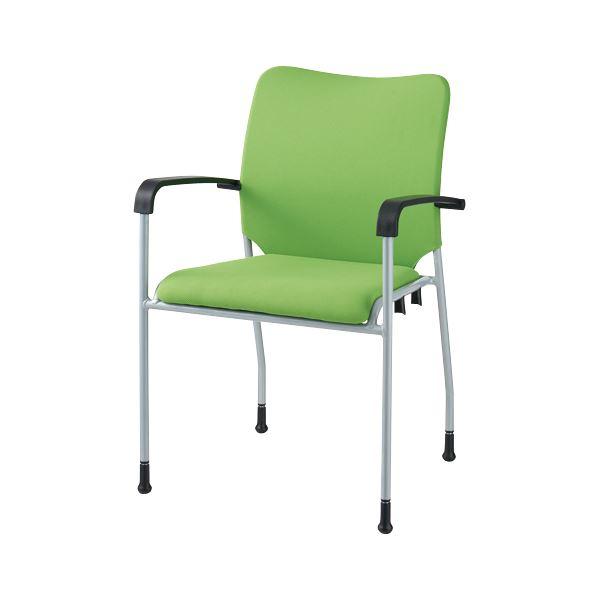 オフィス家具 オフィスチェア 会議用チェア 関連 会議イス GK-A31R グリーン 肘付