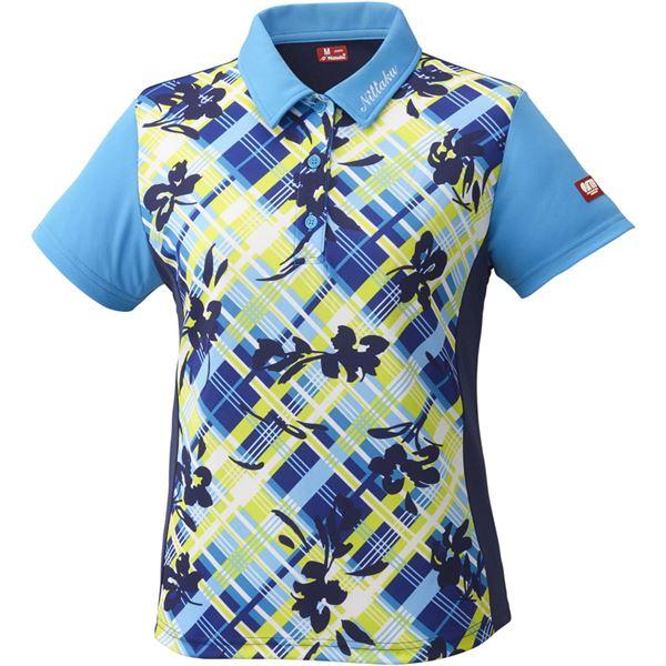 スポーツ用品・スポーツウェア関連商品 卓球アパレル FURACHECKS SHIRT(フラチェックスシャツ)ゲームシャツ(レディース)NW2181 ブルー M
