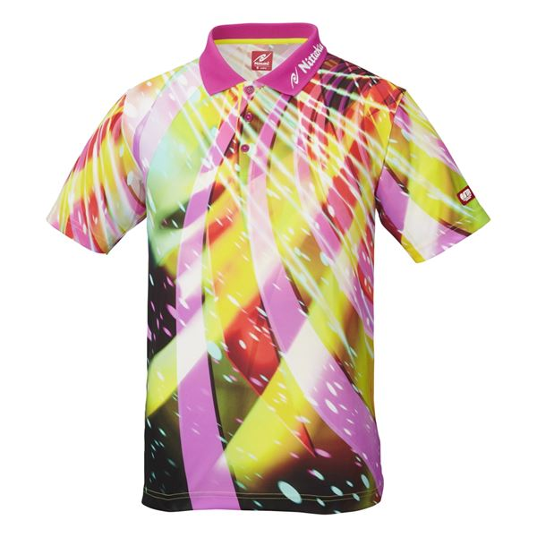 卓球アパレル SPINADO SHIRT(スピネードシャツ) ゲームシャツ(男女兼用) NW2176 ピンク XO