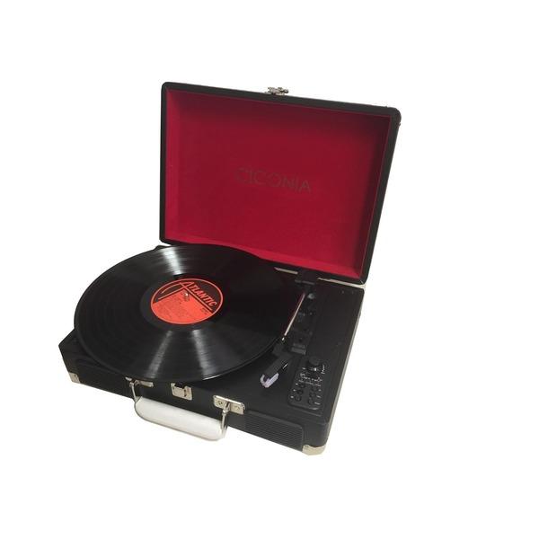 ブラック レトロ・クラシカルレコードプレーヤーTY-1706BK AV・音響機器関連商品