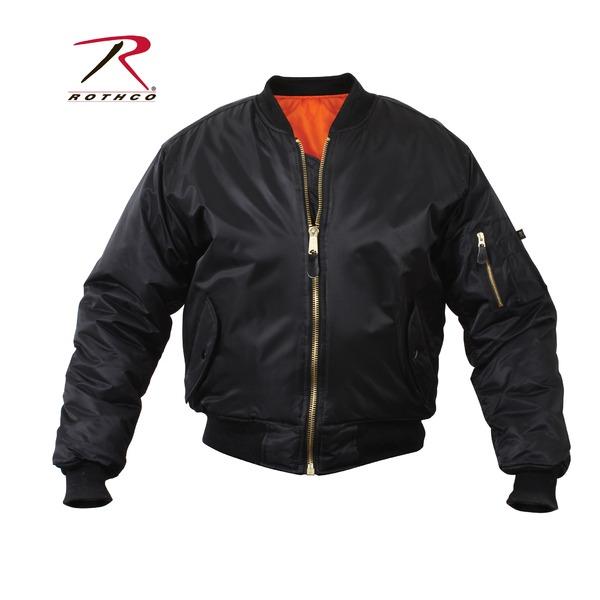 スポーツ・アウトドア アウトドア ウェア レインウェア 関連 ROTHCO(ロスコ) MA-1フライトジャケット ROGT7324 ブラック M