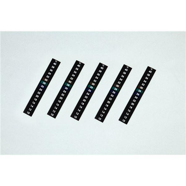 ホビー 関連 便利 日用品 (まとめ買い)液晶シール温度計(5枚セット) 【×10セット】