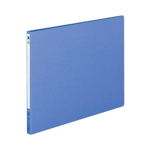 文具・オフィス用品 (まとめ) コクヨ ロングレバーファイル(Z式) B4ヨコ 120枚収容 背幅20mm 青 フ-2309NB 1冊 【×10セット】