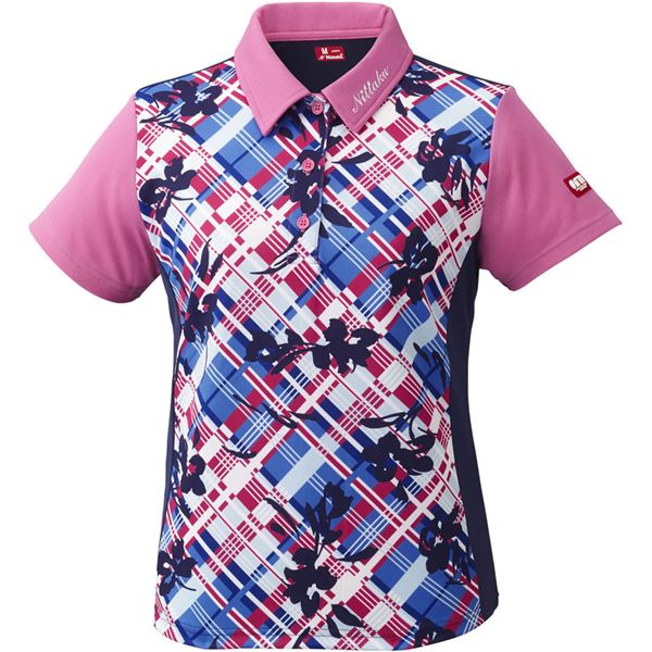 スポーツ用品・スポーツウェア関連商品 卓球アパレル FURACHECKS SHIRT(フラチェックスシャツ)ゲームシャツ(レディース)NW2181 ピンク O