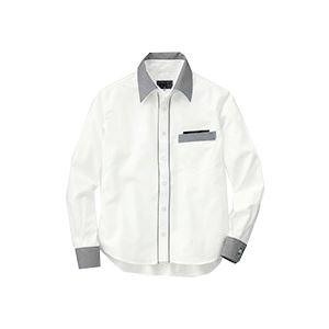 日用品雑貨 (まとめ) セロリー 長袖シャツ(ユニセックス) LLサイズ ホワイト S-63418-LL 1枚 【×2セット】