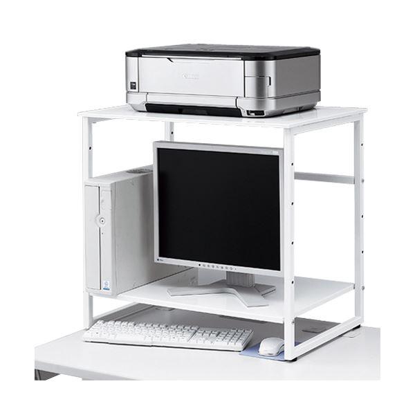 インテリア・寝具・収納 オフィス家具 オフィス収納 関連 インテリア 家具 机上プリンタラック MR-68WN ホワイト