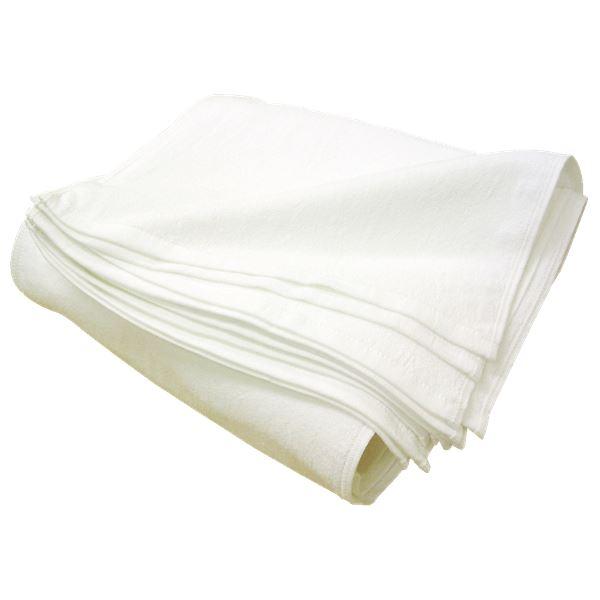 タオル 関連 白タオル 320匁 フェイスタオル 約34×88cm 厚手 【24枚組】