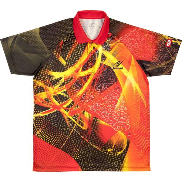 卓球アパレル CLOUDER SHIRT(クラウダーシャツ)ゲームシャツ(男女兼用・ジュニアサイズ対応) NW2177 レッド J130