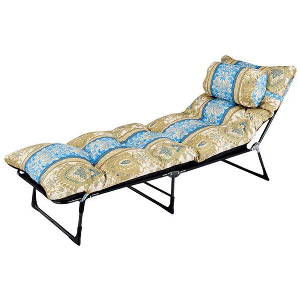 寝具 関連商品 枕・ごろ寝布団付リクライニングベッド ブルー系