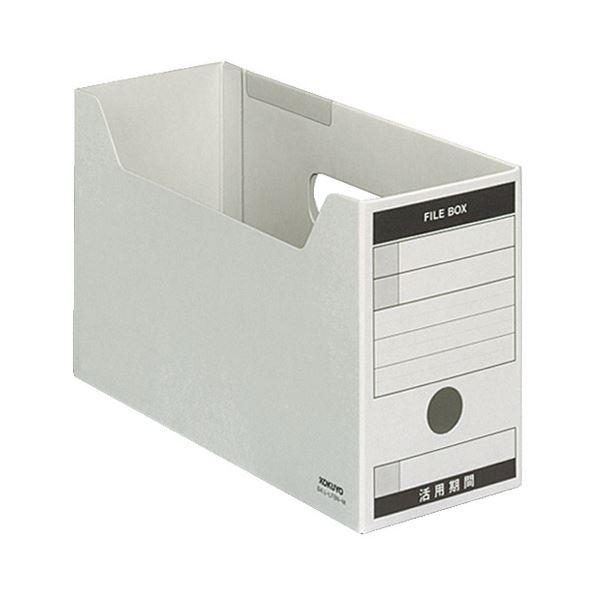 (まとめ) コクヨ ファイルボックス-FS(Bタイプ) B4 1/3ヨコ 背幅102mm グレー B41/3-LFBN-M 1セット(5冊) 【×3セット】